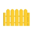 Yellow fence icon in cartoon style vector image