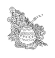 Yerba mate tea gourd vector image vector image