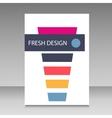 cocktail design brochure vector image