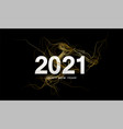2021 inscription on background gold glitter vector image vector image