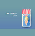 3d paper art and craft of ice cream vanilla cone vector image vector image