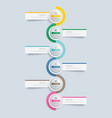 6 circle step infographic with abstract timeline vector image vector image
