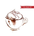 A cup of cappuccino vector image vector image