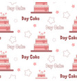 a festive poster to the international day of cake vector image vector image