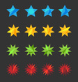 A set of stylized stars vector image