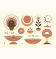 abstract african ethnic decorative design elements vector image