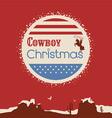 American cowboy christmas poster vector image