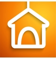 Applique doghouse icon frame vector image vector image