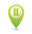 aqualung symbol on green map pointer vector image vector image