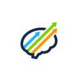 arrow brain logo icon design vector image vector image