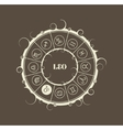 Astrology symbols in circle Lion sign vector image vector image