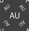 australia sign icon Seamless pattern on a gray vector image