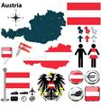Austria blue map vector image vector image