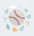 baseball ball isolated on vector image