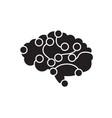 brain power black concept icon brain power vector image vector image