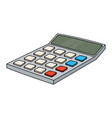 calculator colored doodle style vector image vector image