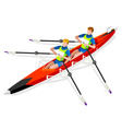 Canoe Rowing 2016 Sports Isometric 3D vector image vector image