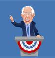 caricature bernie sanders speaking and gesturing vector image
