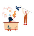 chef cooking on kitchen for tv show or internet vector image