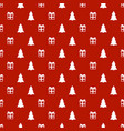 christmas new year seamless pattern with gift vector image vector image