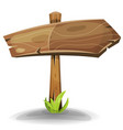 comic wooden sign arrow vector image vector image