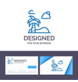 creative business card and logo template beach vector image