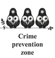 Crime Prevention Zone vector image vector image