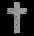 cross symbol hand drawing vintage vector image