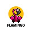 cute flamingo cartoon logo icon vector image vector image
