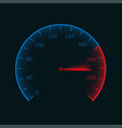 digital speedometer vector image
