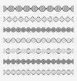 dna elements helix double chromosomes model vector image vector image