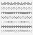 dna elements helix double chromosomes model vector image