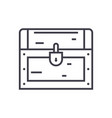 dower chest line icon sign vector image vector image