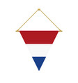 dutch triangle flag hanging vector image