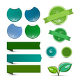 Empty Natural Product Green Labels - Tags - vector image vector image