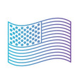 flag united states of america waving design in vector image vector image