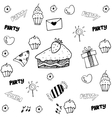 Food and drink doodle for party vector image