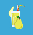 Fresh Pear Juice Drink vector image vector image