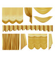 golden stage curtains realistic interior luxury vector image vector image