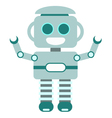 Happy Little Robot Blue vector image