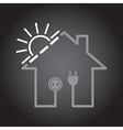 House as solar circuit vector image vector image
