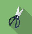 Icon of Kitchen Scissors Flat style vector image vector image