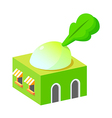 icon veggie shop vector image vector image