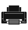 inkjet printer icon simple style vector image vector image