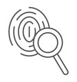 investigation thin line icon crime and vector image