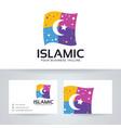 islamic logo design vector image
