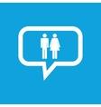 Man woman message icon vector image vector image