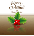 Merry Christmas card background holly vector image vector image