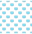 Monitor pattern cartoon style vector image vector image