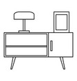night stand icon outline style vector image